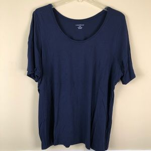 LANE BRYANT Navy Blue Short Sleeve TShirt Sz 26-28